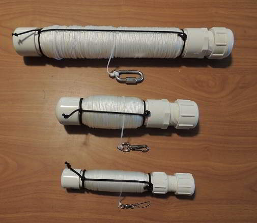 Creance Tubes in three different sizes now