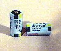 Lithium batteries, CR123a type for pointing dog collars.