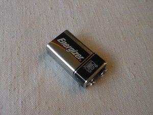 Receiver Batteries, 9 volt alkaline battery