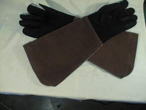 Arm-Length Elk/ Cowhide Raptor Handling gloves 16 inch long