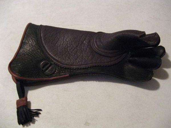 Buffalo & Cowhide Eagle glove, LEFT HAND