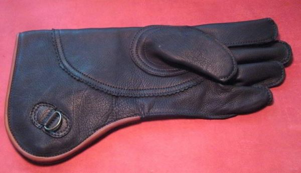 "RED TAIL HAWKING GLOVE 15"" long, black color. Best Quality glove you will find anywhere for this price."