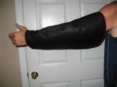 COWHIDE ARM COVER SHEATHS  - (LEFT HAND ONLY)