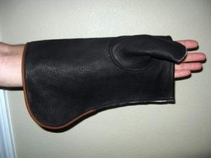COWHIDE GLOVE SHEATH  LEFT HAND 14.5 inches LONG