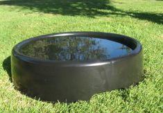 Oval Hawk or Falcon Bath color black 15 1/2 inch diameter