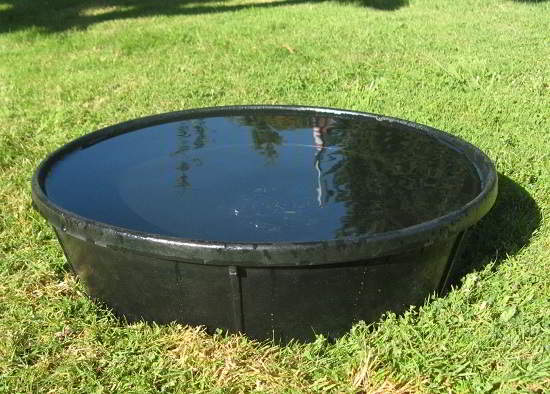 Flexable Rubber Bath Pan for Hawks or Falcons 16 inch diameter