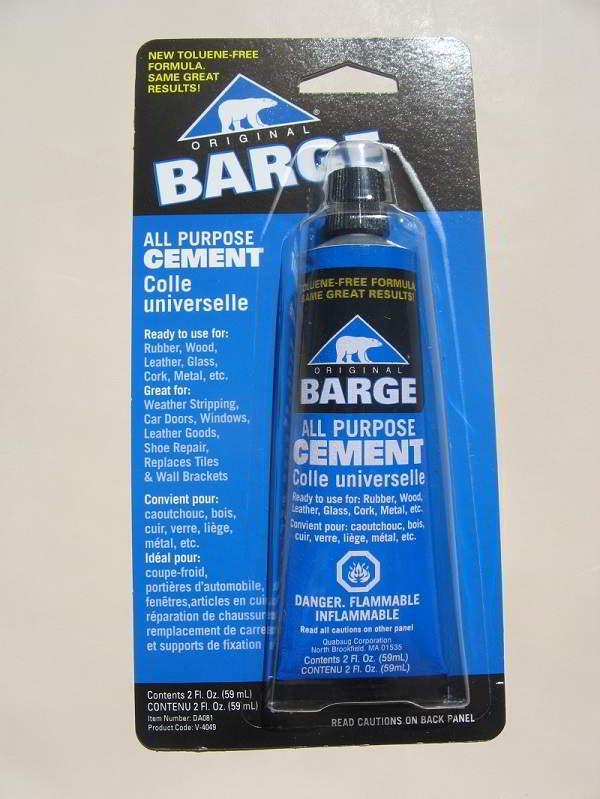 Hood Glue, Barge gluing cement