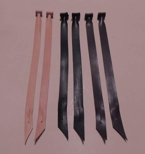 A Great  set  of Kangaroo Aylmeri Jesses ready to use with SLITS now in three colors