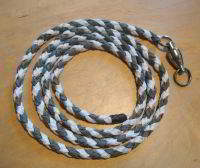 PARA CORD LEASH 4 FEET LONG WITH LARGE SAMPO SWIVEL