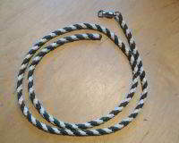 PARA CORD LEASH 3 FEET LONG WITH SMALL SAMPO SWIVEL