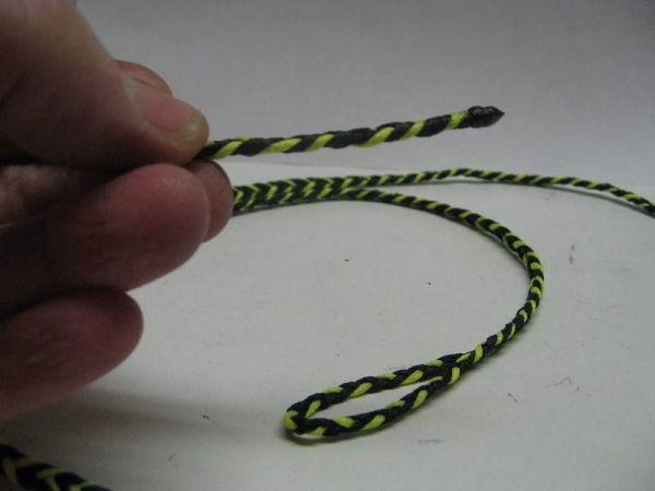 FLAT BRAIDED FOUR STRAND DACRON LEASH 40 inch long