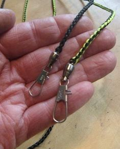 A MICRO HAND BRAIDED 30 INCH LONG SNAP LEASHES TWO SIZES