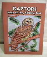 Raptors, Birds of Prey coloring book