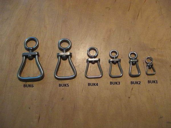BRITISH BELL SHAPED STAINLESS STEEL SWIVELS IN 6 SIZES