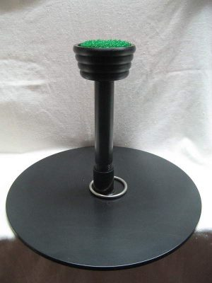 "A Portable Falcon Block Perch with 4"" diameter top.  Perch must ship by itself."
