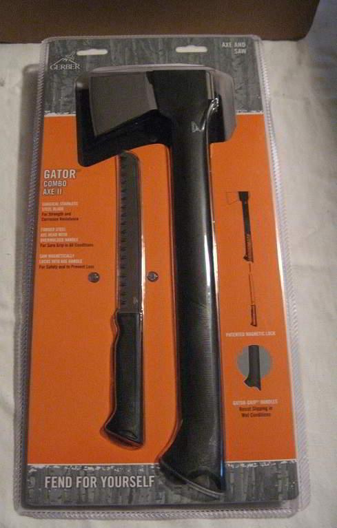 A - GERBER GATOR COMBO AXE II WITH KNIFE SAW