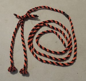 A Braided dacron, leash jess & barrel swivel setup