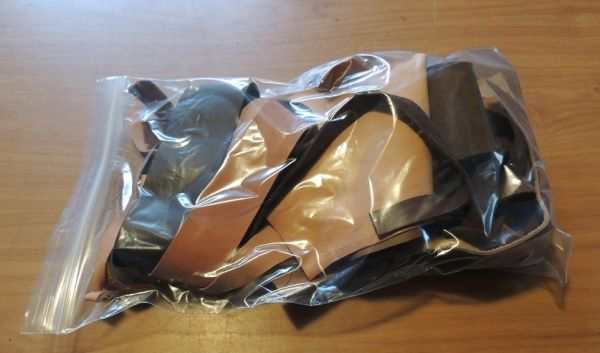 SCRAP LEATHER - includes over 1sq ft of Kangaroo hide and also 1 sq ft of cowhide