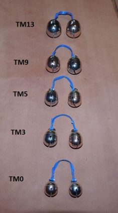 DAVE NOBLE BRASS/BRONZE / BRASS/NICKEL SILVER BELLS NOW AT MIKE'S