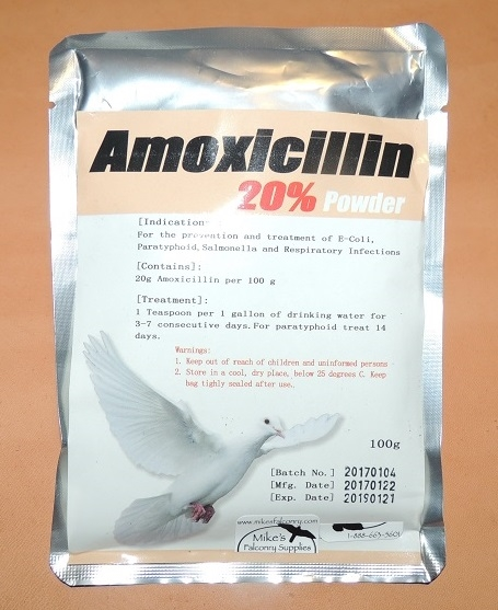 Amoxicillinum 20% Powder.