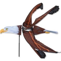 A WIND YARD AND GARDEN SPINNER - BALD EAGLE SPINNER