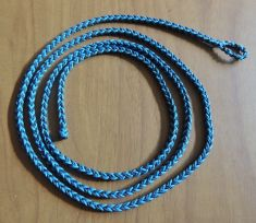 A -  EIGHT STRAND SQUARE BRAIDED DACRON LOOP LEASHES IN THREE SIZES AND TWO COLORS