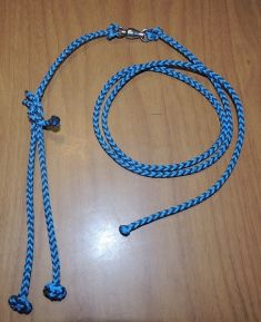A - EIGHT STRAND SQUARE BRAIDED LEASH SETUP WITH SWIVEL THREE SIZES