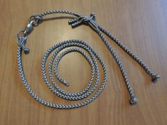A - EIGHT STRAND ROUND BRAIDED LOOP LEASH COMPLETE SETUP WITH SAMPO SWIVEL , COMES IN THREE SIZES.