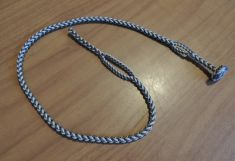 A - EIGHT STRAND ROUND BRAIDED FOX LOOP LEASH – COMES IN THREE SIZES