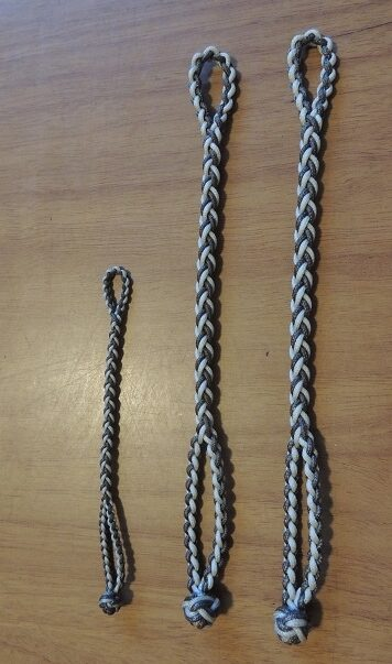 NEW EIGHT STRAND ROUND BRAIDED JESS EXTENDERS IN THREE SIZES