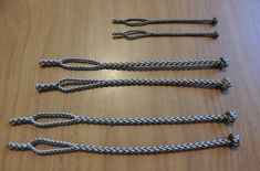 A - NEW EIGHT STRAND ROUND BRAIDED JESSES IN THREE SIZES