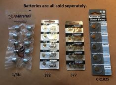 BATTERIES ALL SIZES FOR MERLIN SYSTEMS TRANSMITTERS