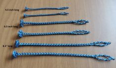 A NEW EIGHT STRAND SQUARE BRAIDED JESSES IN THREE SIZES