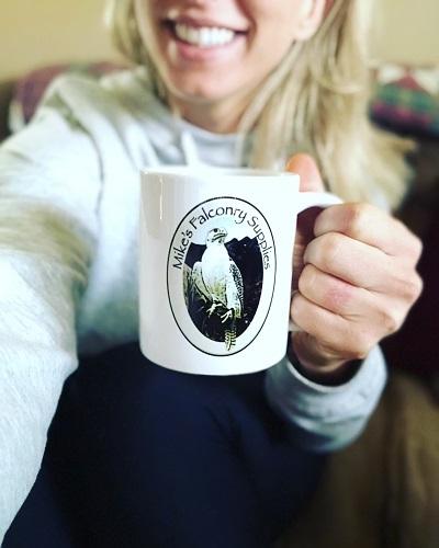 A  MIKES FALCONRY  COFFEE MUG