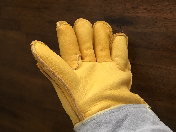 Raptor and animal handling gloves, 24 inch long. Kevlar lined for more protection.