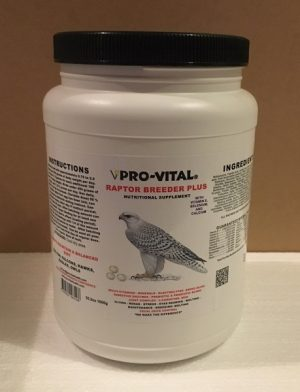 Raptor Breeder Plus 35.2oz or 1000g,  also great for promoting faster molting.
