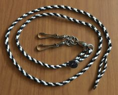 BRAIDED DACRON LEASH WITH LARGE SAMPO SWIVEL AND TWO HEAVY DUTY SNAPS
